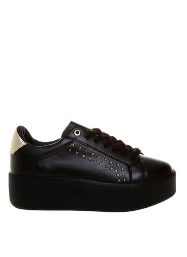 Limon Company 28Taurus Zımba Desenli Suni Deri Yüksek N Bağcıklı Kadın Günlük Ayakkabı Siyah